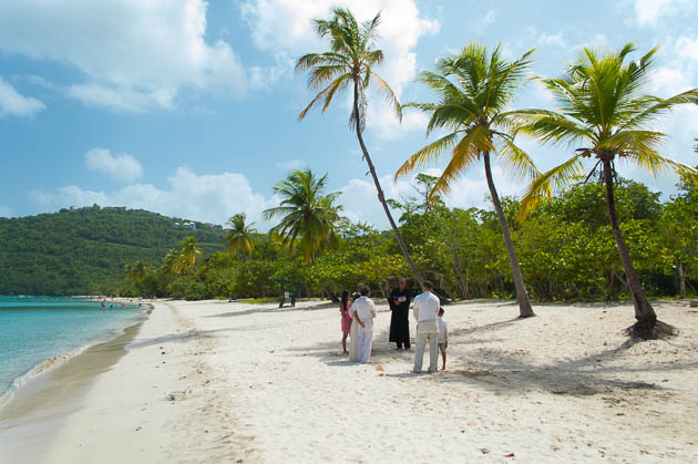 a vow renewal ceremony at magens bay beach st thomas