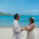 A cruise ship vow renewal ceremony in st. thomas